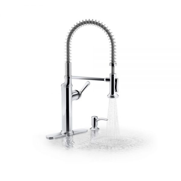 Kohler Sous Pro Style Single Handle Pull Down Sprayer Kitchen Faucet In Vibrant Stainless Cpsahs Cleo Property Service And Home Store